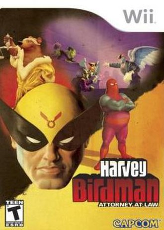 Harvey Birdman: Attorney at Law (video game) - North American Wii version boxart