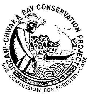 Flagship species - Project logo showing the use of the Zanzibar red colobus as the flagship species for a conservation organization in Zanzibar, Tanzania.