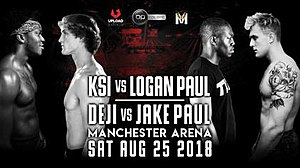 The official poster for KSI vs Logan Paul.