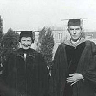 Karl Herzfeld - Regina and Karl, at Regina's graduation 1938