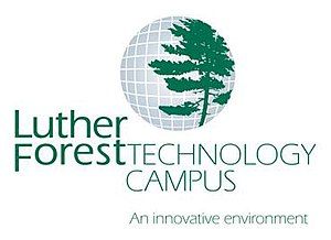 Tech Valley - The logo of the environmentally sustainable Luther Forest Technology Campus, housing the GlobalFoundries Fab8 campus in Saratoga County, New York.