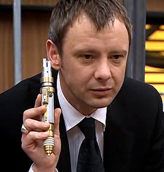 The Master (Doctor Who) - John Simm's incarnation of the Master with his laser screwdriver, as seen in the 2007 episode The Sound of Drums.