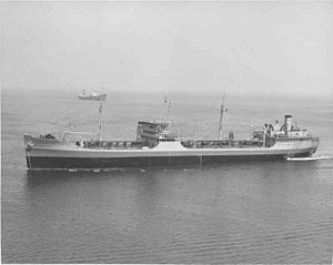 USNS Mission San Diego (T-AO-121) - USNS Mission San Diego (T-AO-121) underway off Long Beach, California, date unknown