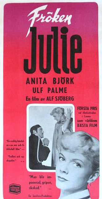 Miss Julie (1951 film) - Theatrical release poster