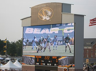 Faurot Field - The new Daktronics video board installed before the start of the 2009-2010 football season.