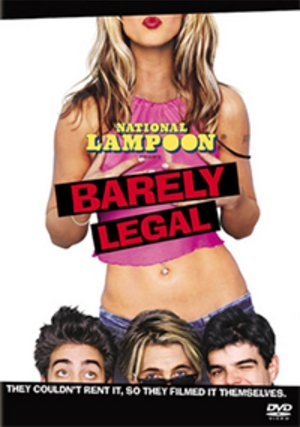National Lampoon's Barely Legal - DVD cover of  National Lampoon's Barely Legal.