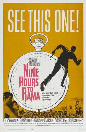 Nine Hours to Rama - Original film poster by Saul Bass