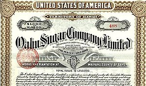 Waipahu, Hawaii -  Oahu Sugar Company at Waipahu (Gold Bond Certificate)