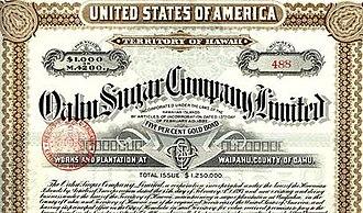 Waipahu, Hawaii -  Oahu Sugar Company at Waipahu (Gold Bond Certificate)