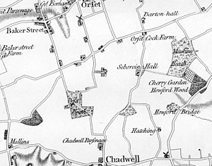 Baker Street, Essex - Image: Orsett heath