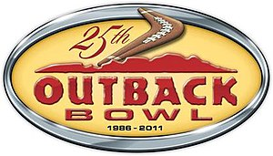 2011 Outback Bowl - Anniversary logo