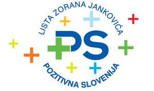 Positive Slovenia - The logo of Positive Slovenia, which was in use from the establishment of party on 22 October 2011 until its second congress on 21 January 2012, included the name of Zoran Jankovič, its president. Originally, the party was known as Zoran Janković's List – Positive Slovenia.