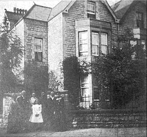 Joseph Parry - Parry and his family in front of their Penarth home