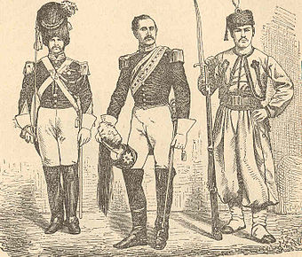 Papal soldiers around 1860 Pio9soldiers.jpg