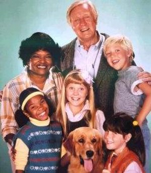 Punky Brewster - Clockwise from bottom-right: Frye, Sandy, Johnson, Garrett, Gaynes, Ellison and Foster (center)