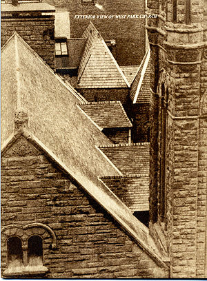 West-Park Presbyterian Church - Bird's eye roof detail