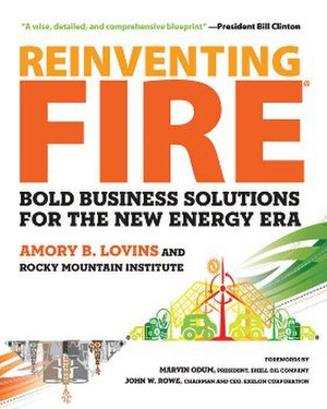Reinventing Fire - Image: Reinventing Fire (Lovins book) cover