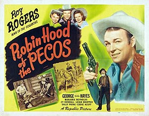 Robin Hood of the Pecos - Theatrical release poster