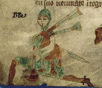 Music of Ireland - A 16th century Irish Warpipe player