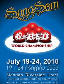 2010 Six-red World Championship snooker tournament