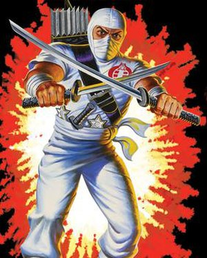 Storm Shadow (G.I. Joe) - Storm Shadow as a Cobra agent (Promotional artwork of 1st figure package ©Hasbro 2007)