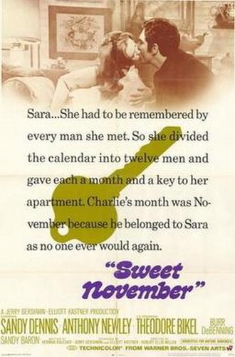 Sweet November (1968 film) - Theatrical release poster