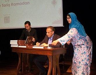 Tariq Ramadan - Tariq Ramadan signing books. Muslim Arts Museum, Kuala Lumpur, Malaysia, 31 January 2015