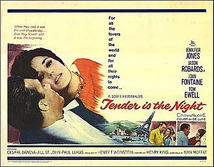 Tender Is the Night (film) - Original lobby card