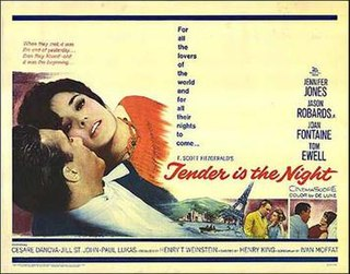 <i>Tender Is the Night</i> (film) 1962 film by Henry King