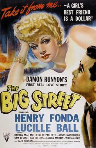 The Big Street - Original poster