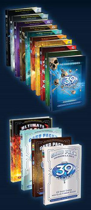 The 39 Clues - The 39 Clues books and card packs as of August 2010.