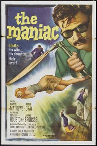 Maniac (1963 film) - Theatrical release poster