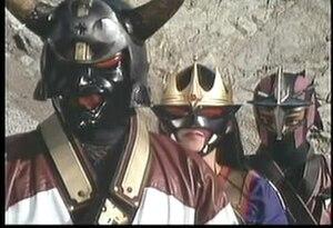 Sekai Ninja Sen Jiraiya - The Sorcerers Clan (left from right: Oninin Dokusai, Chuunin Benikiba and Hoshinin Retsukiba)