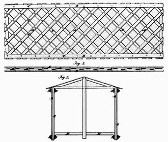 Ithiel Town - Town's lattice truss patent drawing