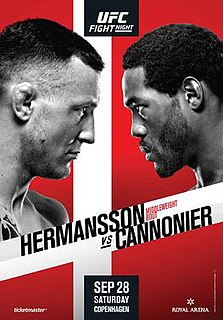 UFC Fight Night: Hermansson vs. Cannonier UFC mixed martial arts event in 2019