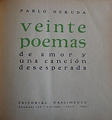 Twenty Love Poems And A Song Of Despair Wikipedia