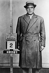 1958 mug shot of Vito Genovese.