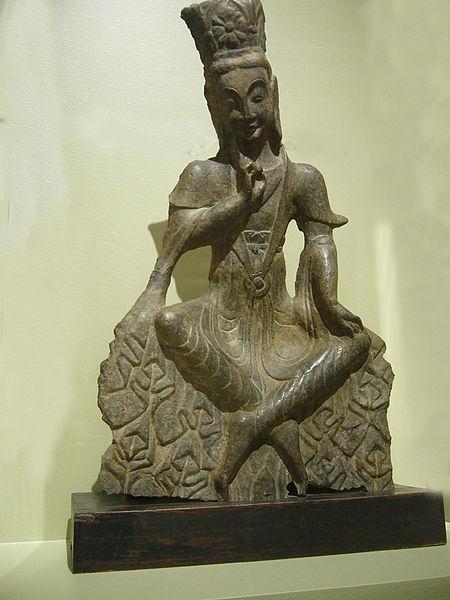 450px Wei Maitreya - Sculpture from Dynasty