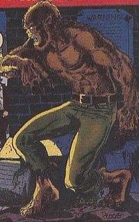Werewolf by Night fictional character from Marvel Comics