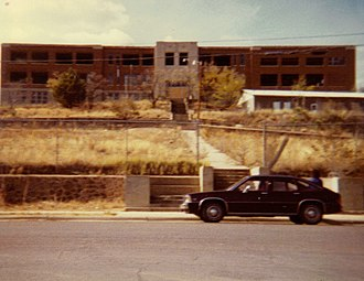 Western High School (Silver City, New Mexico) - Old Silver High School before destruction, 1982
