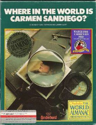 Where in the World Is Carmen Sandiego? (1985 video game) - Image: Where in the World Is Carmen Sandiego 1985 Cover