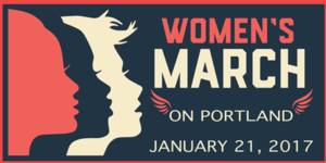 Women's March on Portland - Promotional artwork for the event