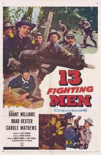 13 Fighting Men - Theatrical release poster