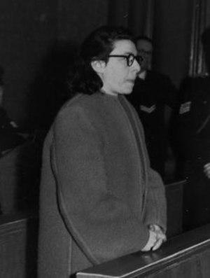 Ans van Dijk - Nazi collaborator Ans van Dijk at her trial in 1947