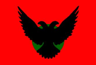 "Ashkali and Balkan Egyptians - An ""Ashkali flag"" (Amëza e Ashkalive) was designed in 1999 by Abedin Toplica."