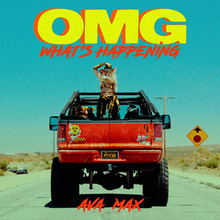 Max is seen standing on top of a red monster truck while wearing a red cowboy hat. The song title is displayed above, with the artist name shown underneath.
