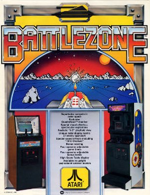 Battlezone (1980 video game) - Promotional arcade poster