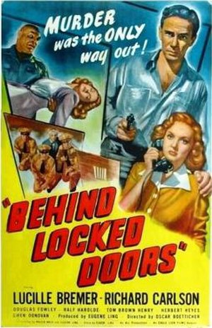 Behind Locked Doors - Theatrical release poster