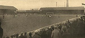 History of Blackpool F.C. (1887–1962) - Bloomfield Road in the early part of the 20th century, looking north-west.