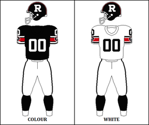1984 Ottawa Rough Riders season - Image: CFL OTT Jersey 1984